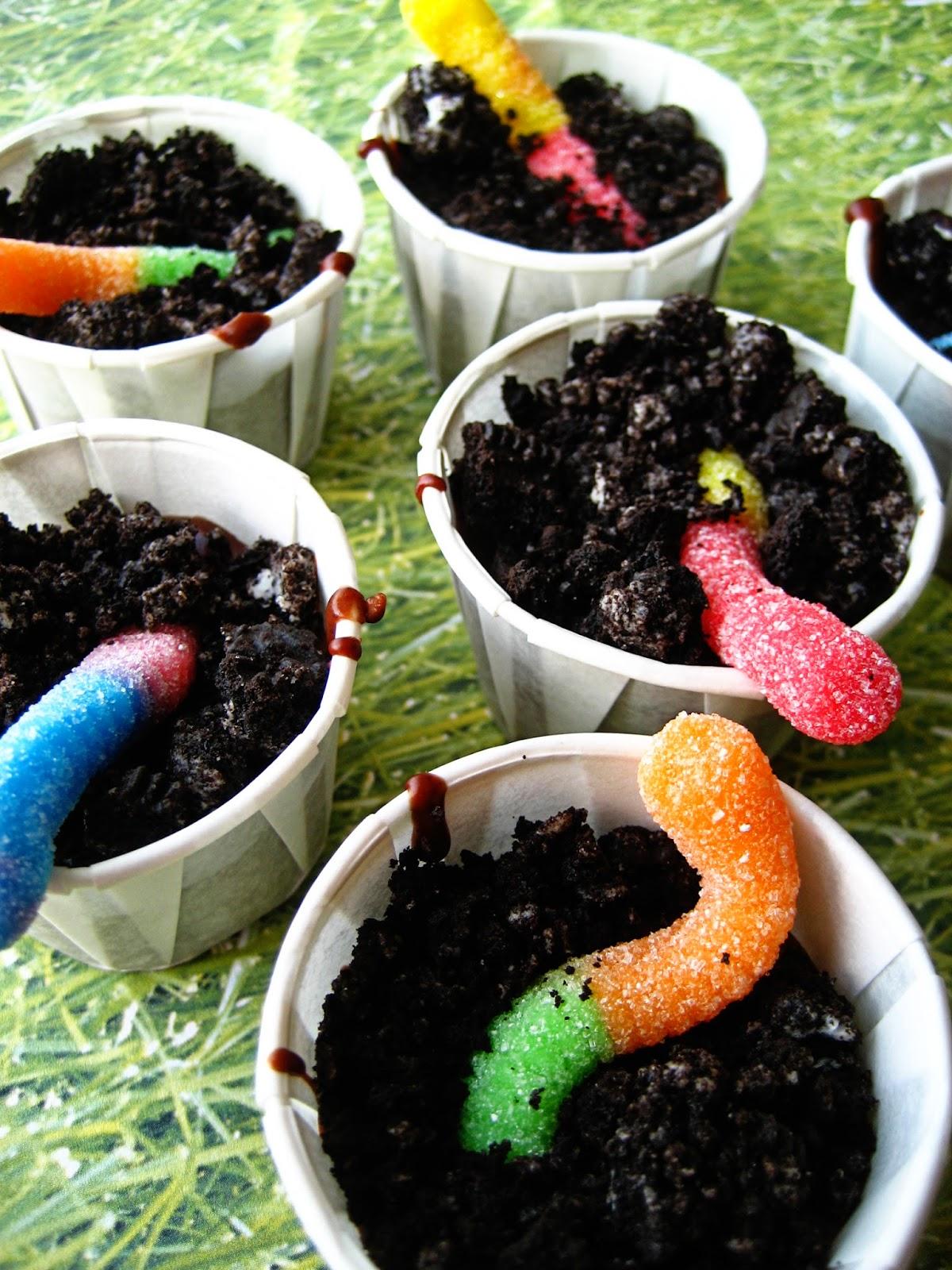 Gummi Worm Dirt Cup Recipe