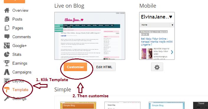 Cara Mudah Centerkan header Blog | ElvinaJaneBlog