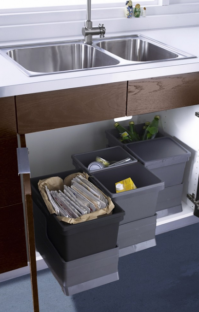 11 ways to organize under a sink organizing made fun 11 ways to organize under a sink - Ikea pull out trash bin ...