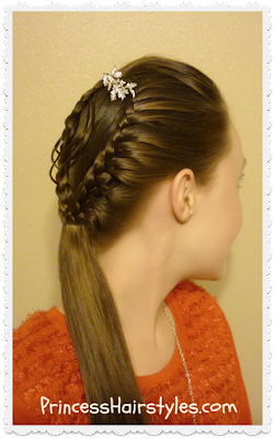 Braided ornament hairstyle tutorial