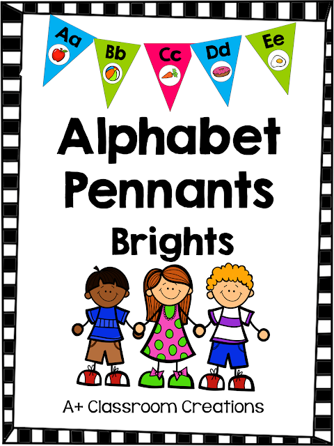 http://www.teacherspayteachers.com/Product/Alphabet-Pennants-Brights-1346578