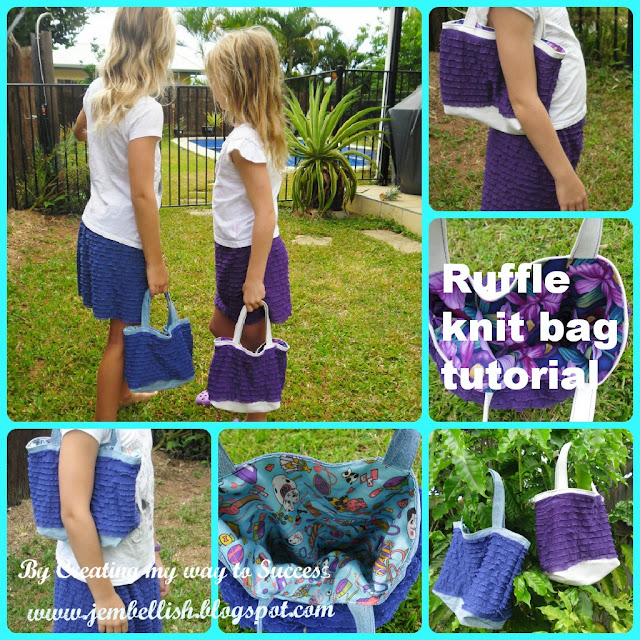 Ruffle Knit Bags