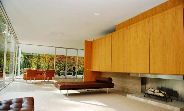 Bridoor s l house farnsworth mies van der rohe for Casa minimalista de mies van der rohe
