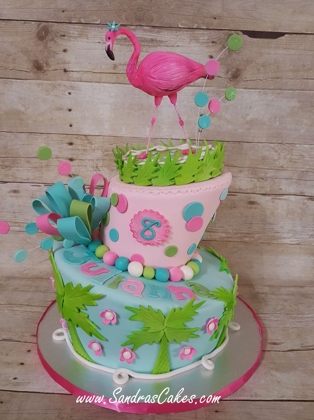 Lilly Pulitzer Inspired Birthday Cake