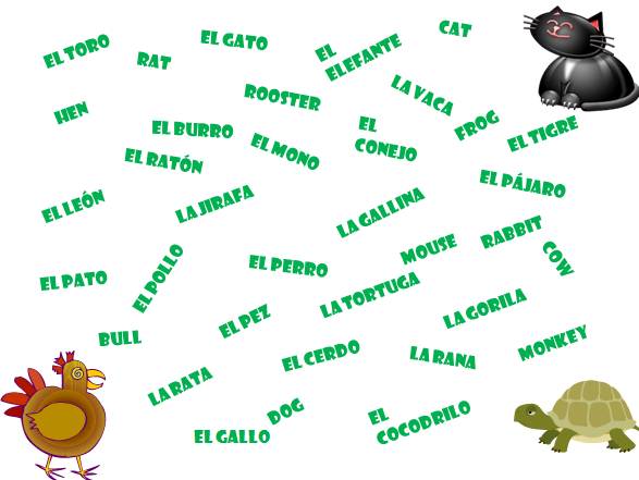 The Enlightened Elephant: FREE Spanish Vocabulary Games