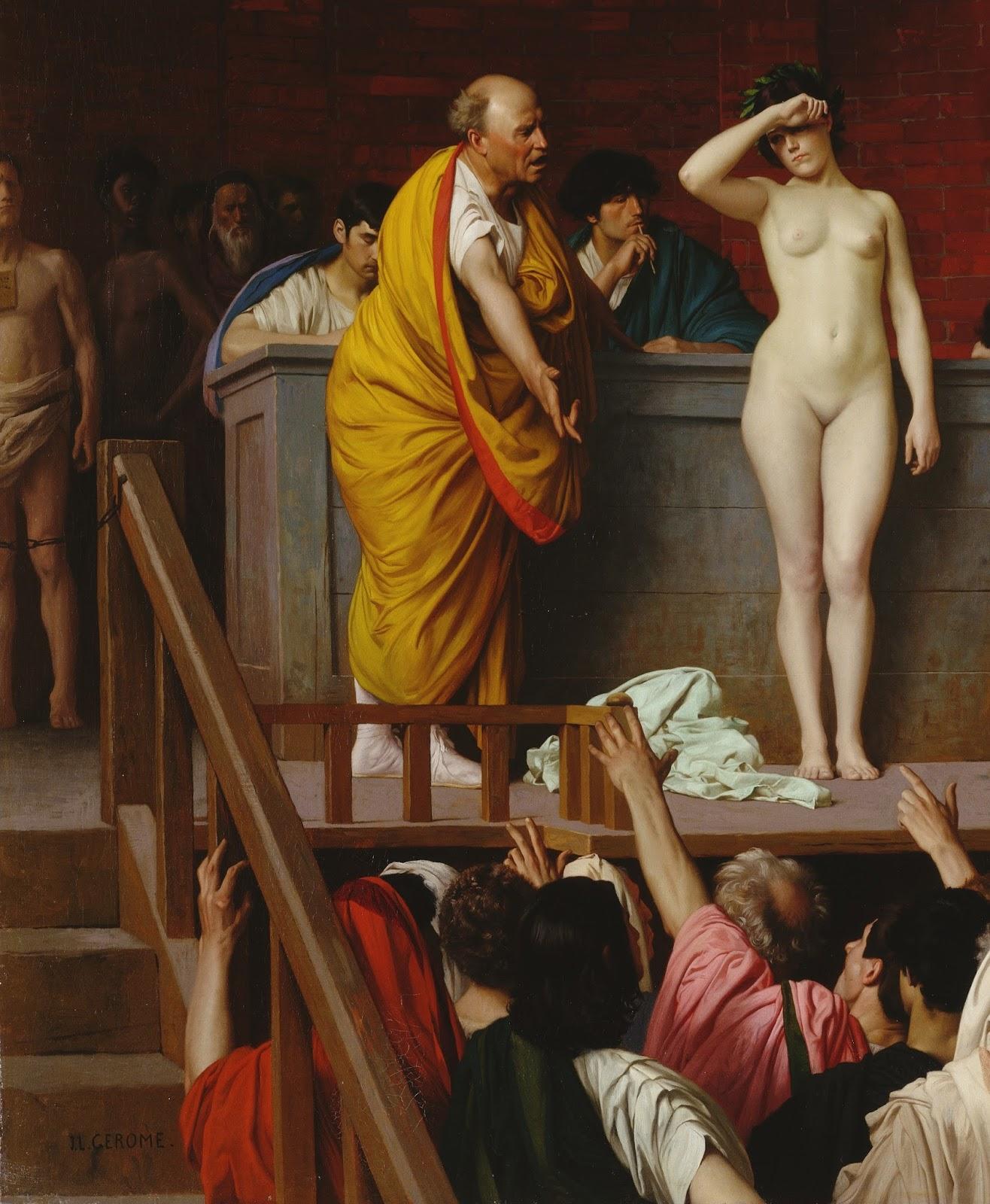 Slave market, 1867 (Hermitage), Jean-Léon Gérôme (11 May 1824 – 10 January 1904)