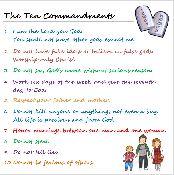 lámparas : The Ten Commandments For Kids Ministry To Children Foto