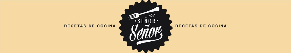 The header from the Spanish food blog Del Senor Senor