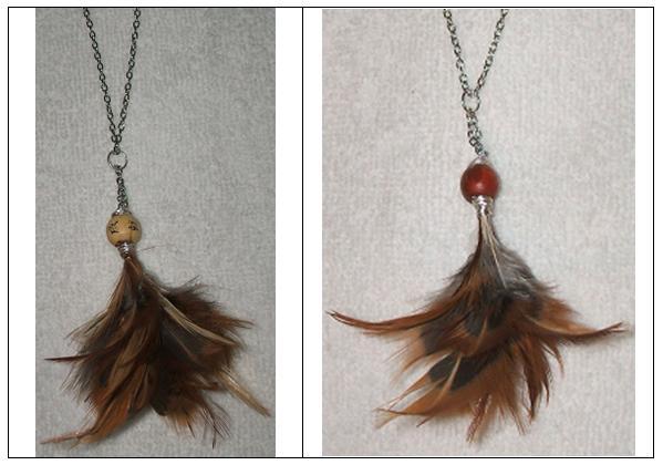 Mi bisuter a y otras manualidades colgantes de plumas - Manualidades con plumas ...