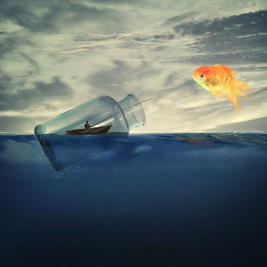 30 stunning digital artworks that will take you in the for Catching big fish