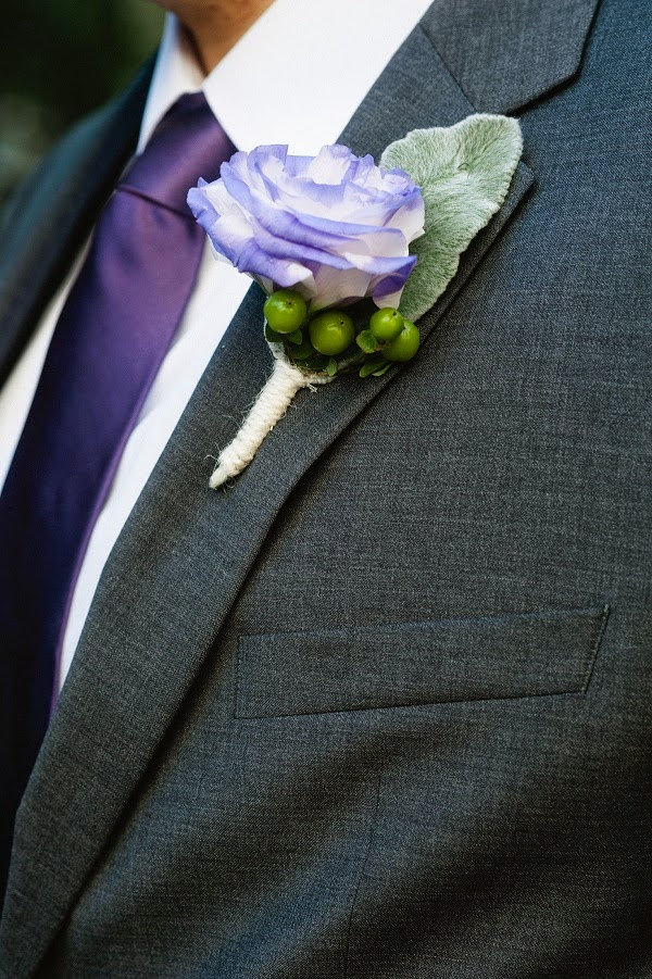 Lavender Green Boutonniere