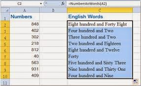 spell number in excel 2007