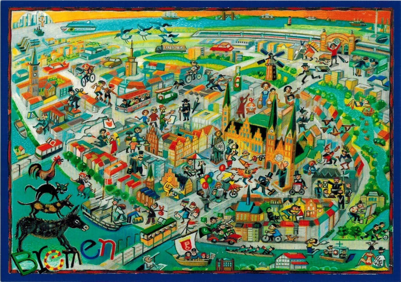 Bremen Germany  city pictures gallery : Map Cards Hunting: 0216 Germany The Free Hanseatic City of Bremen