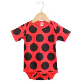 Image of a Lady Bug Print on a Onesie