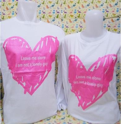 OnlineShop Kaos Couple Lengan Panjang Warna Putih Jakarta