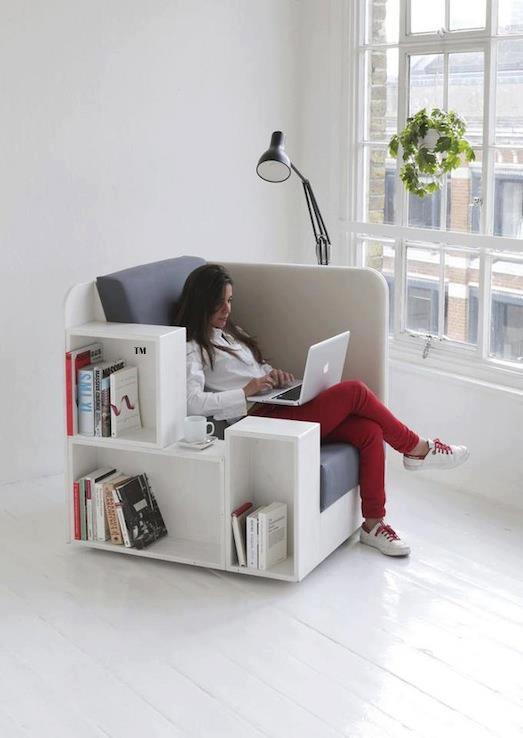 sofá estantería