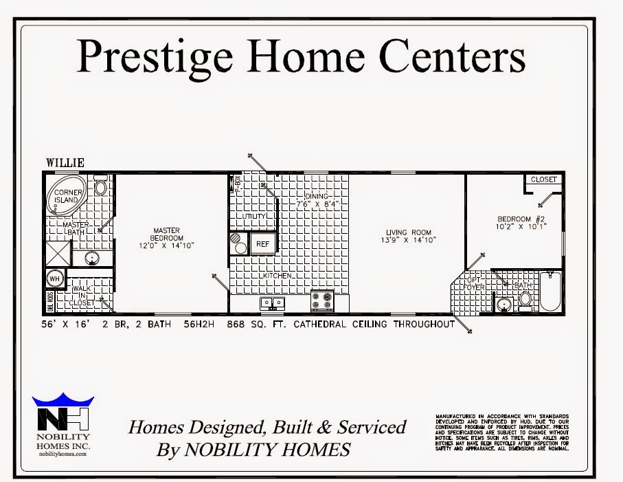 Single wide homes many plans available prestige home for Mobile home floor plans florida