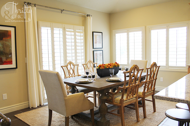 farmhouse table and dining room design