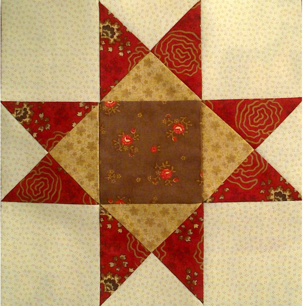 Regalos de tela tutorial estrella de ohio patchwork - Como hacer mantas de patchwork ...