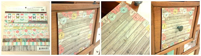 Scrapbook, papel decorado, cajonera de madera, tutorial