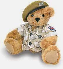Gambar boneka teddy bear marinir