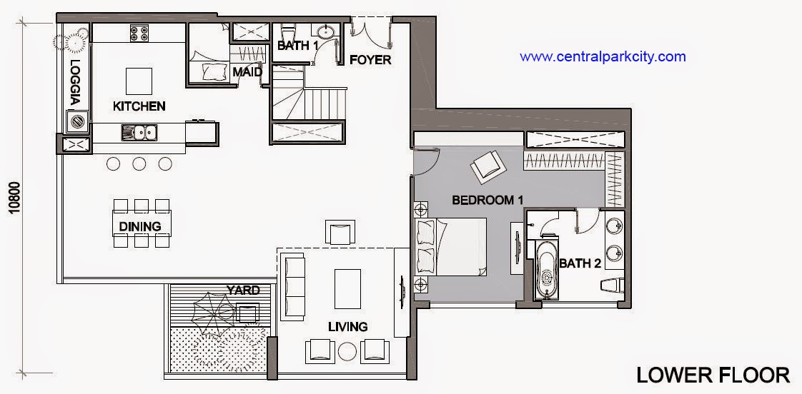 Vinhomes Central Park Penthouse - Căn số 05 tầng 45-46 Lower Floor - 3PN - 260.3m2