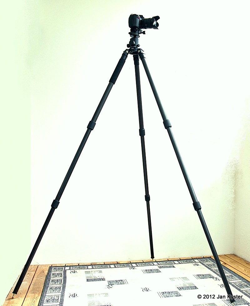 Benro C3770T CF Tripod fully extended