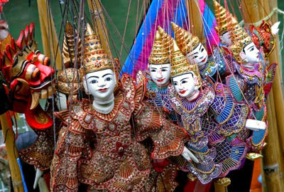 Myanmar Traditional Puppet,Myanmar Art and Culture