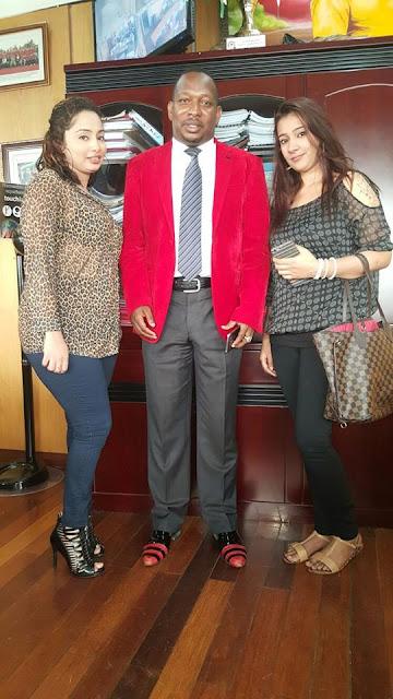 Two Dangerously Sexy Eritrean Ladies Visit Mike Sonko (Photos)