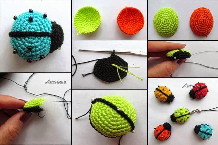 Amigurumi Anahtarlık Yapımı : Amigurumi uğur böceği yapımı hobilendik