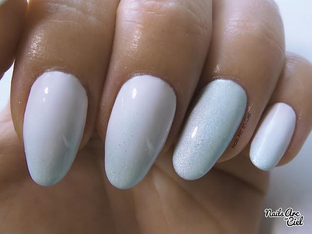 Nail art dégradé pigments par Nails Arc en Ciel