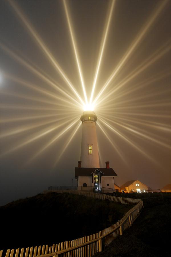 Pigeon point lighthouse lighting 2013