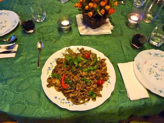 Veal al Funghi dish