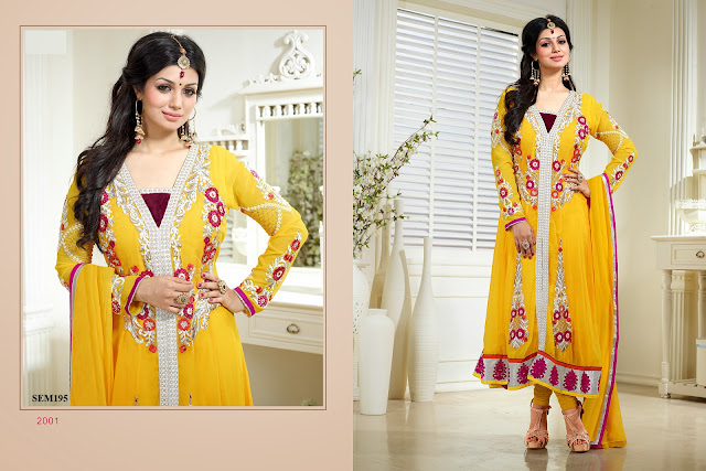 Ayesha Takia Embroidered Long Anarkali Suit