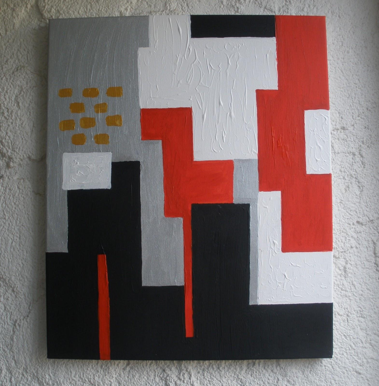 Cat sur la toile for Tableau geometrique pastel