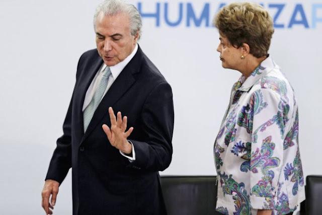 As divergências entre a presidente Dilma e o vice-presidente Temer são mais profundas do que parecem. Eles alimentam desconfianças mútuas. Um acha que está sendo sabotado pelo outro. Mal se falam(Ueslei Marcelino/Reuters)