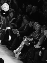 Magdalena Frąckowiak and Daphne Guinness at Paco Rabanne, Paris