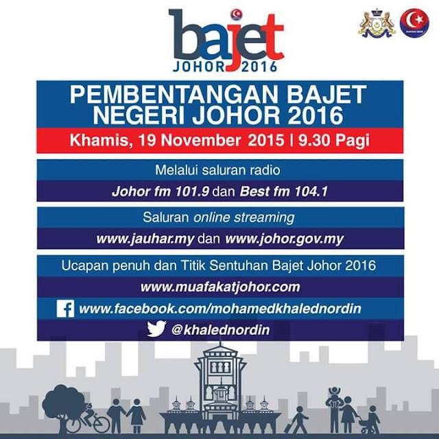 Bajet Johor 2016 Online