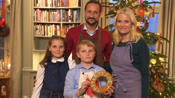 Crown Prince Haakon, Crown Princess Mette-Marit and with their children Princess Ingrid Alexandra and Prince Sverre Magnus