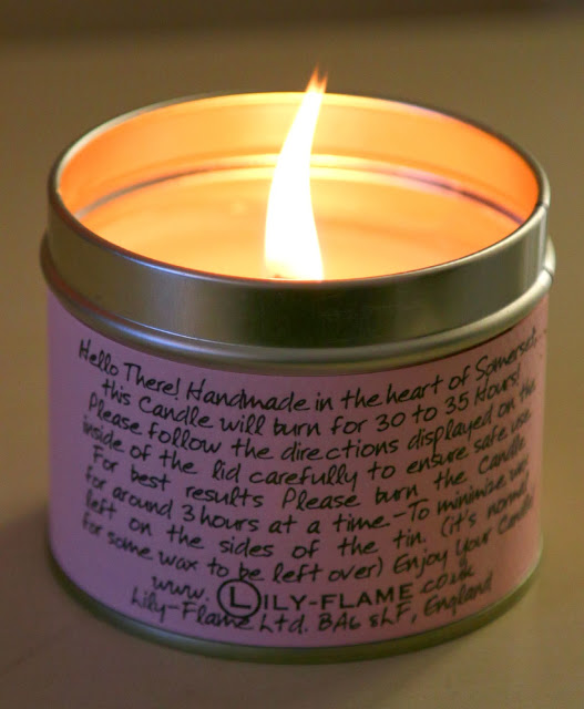 Lily Flame candle, Michelle Louise Love