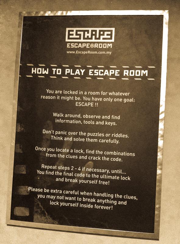 Escape Room Malaysia S First Real Escape Game At E Curve