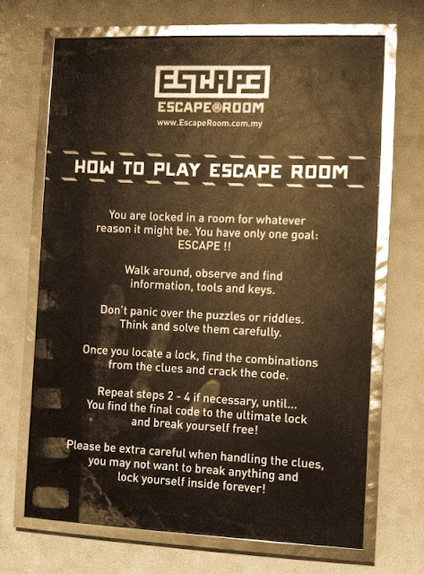Escape room malaysia 39 s first real escape game at e curve for Escape room tips and tricks