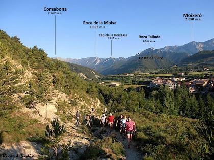 La Vall del Bastareny i Bagà a la dreta des del Camí del Siti. Autor: Ricard Badia