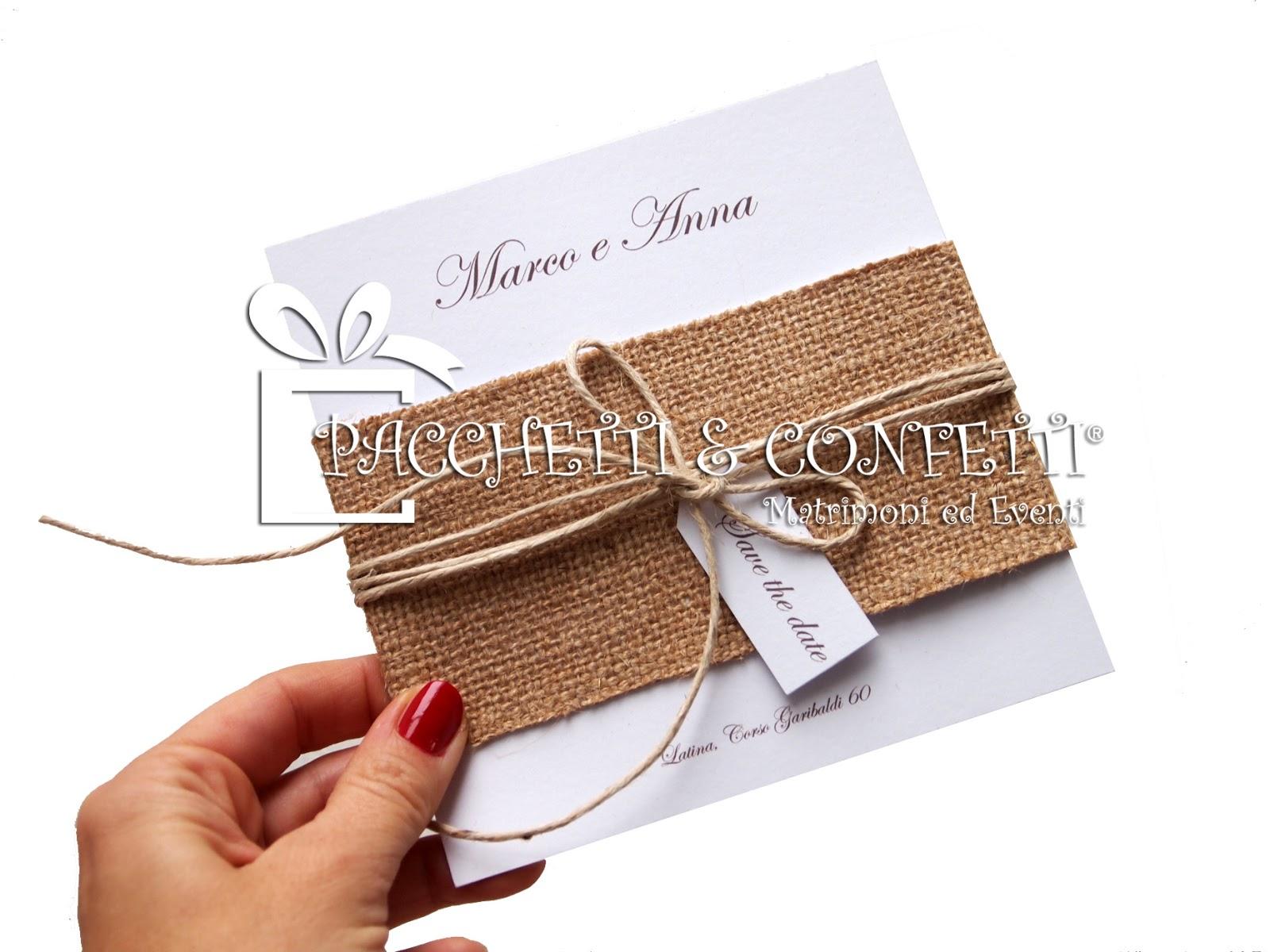 Partecipazioni Matrimonio In Juta : Pacchetti e confetti idee nozze con la juta