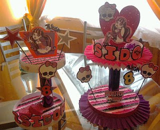 Fiestas Infantiles, Decoración Monster High, Centros de Mesa
