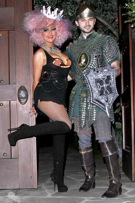 celebrity halloween costume roundup including kim kardashian ryan seacrest and avril lavignes ex husband dressing as avril
