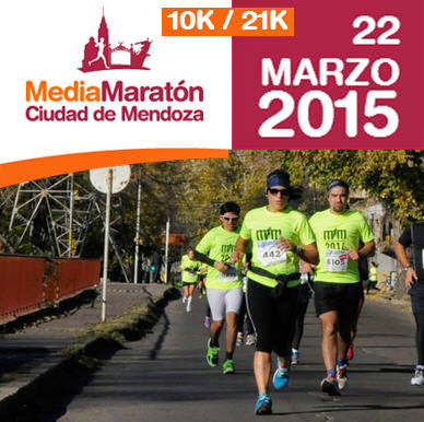 Media maratón Ciudad de Mendoza (ARG, 22/mar/2015)