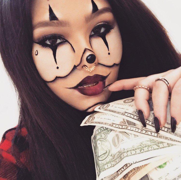 Halloweek day 1 ganster clown dollhaus beauty for Skone tattooed eyeliner