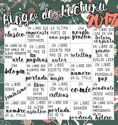 ¡Bingo de lectura 2017!