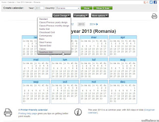 Generator calendar - TimeAndDate.com - tema calendar